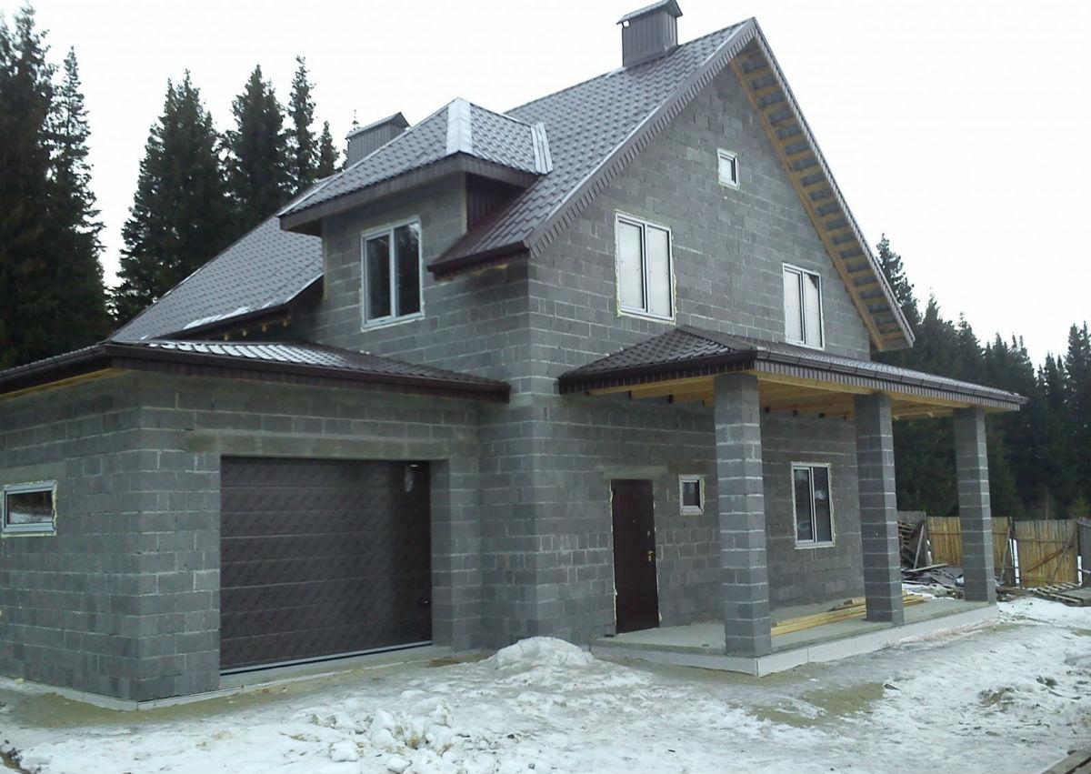 дом из шлакоблока проекты фото цена
